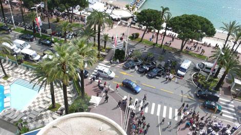 Cannes, vue de chez Chopard