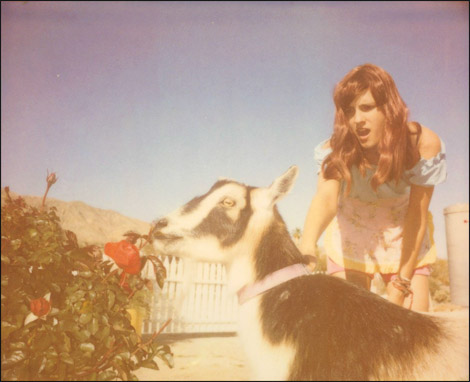 Heather and Zeus (the goat), 2013