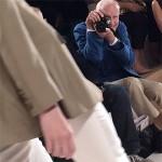 Bill Cunningham at the Ralph Lauren S/S 2015 fashion how Photo: @norriporri via Instagram.