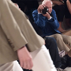 Bill Cunningham at the Ralph Lauren S/S 2015 fashion how Photo: @norriporri via Instagram.