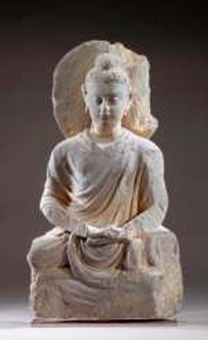 Bouddha assis Gandhara, I – IIIème siècle