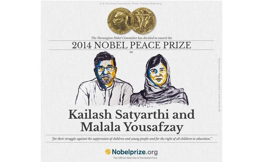Malala Yousafzai et Kailash Satyarthi