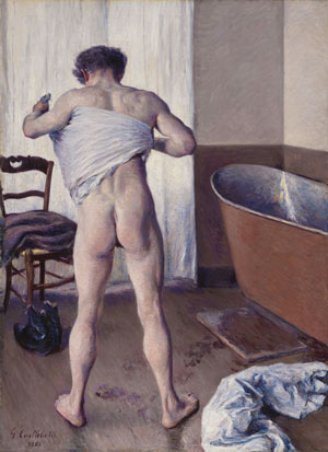 GUSTAVE CAILLEBOTTE MAN AT HIS BATH