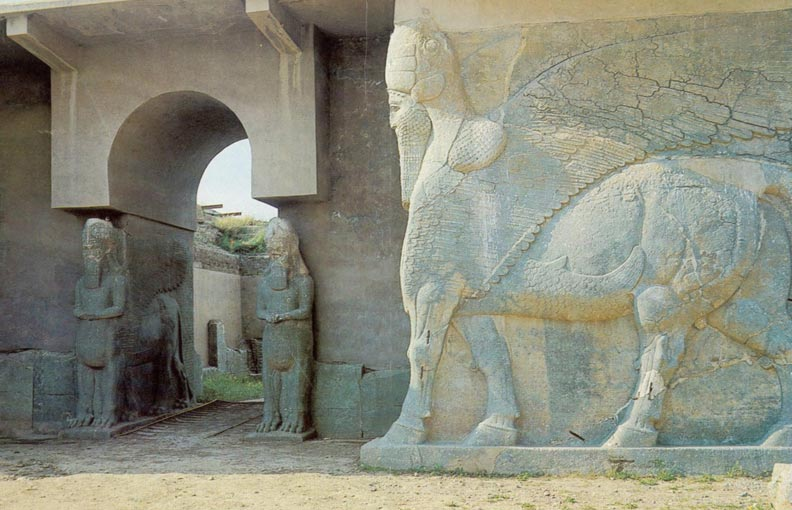 Nimrud Lamassu's at the North West Palace of Ashurnasirpal