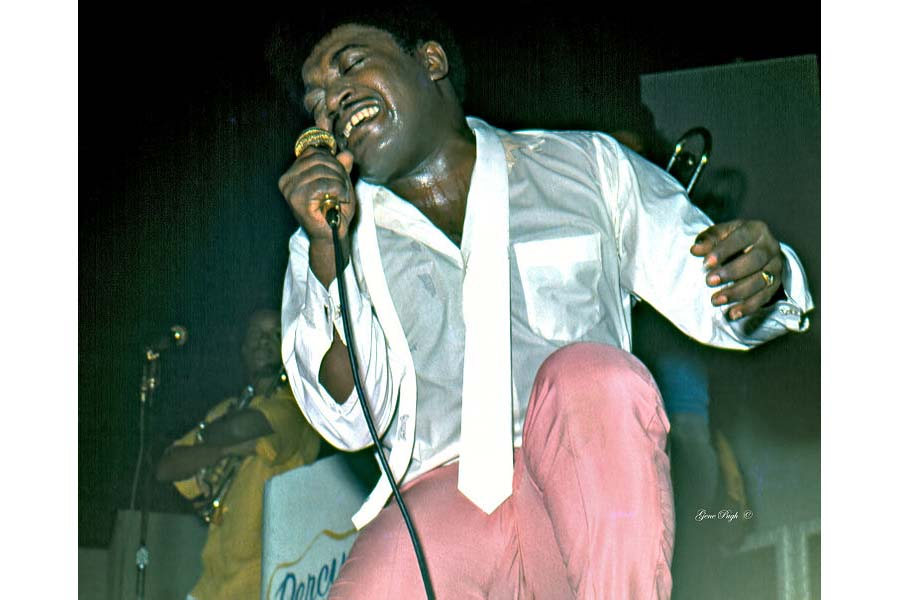 Percy Sledge on tour in 1974