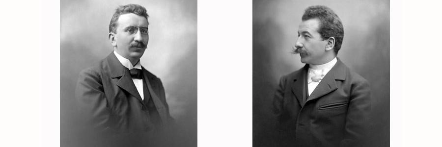 Louis Lumière (1864-1948) et Auguste Lumière (1862-1954)