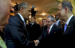 Barack Obama et Raoul Castro