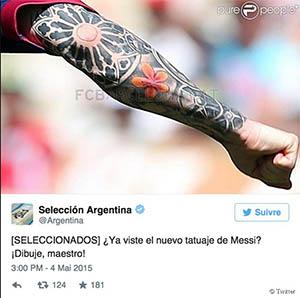Tatouage Lionel Messi