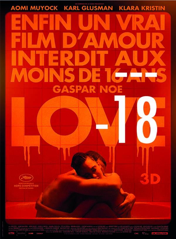 interdit aux mineurs - Love de Gaspar Noé