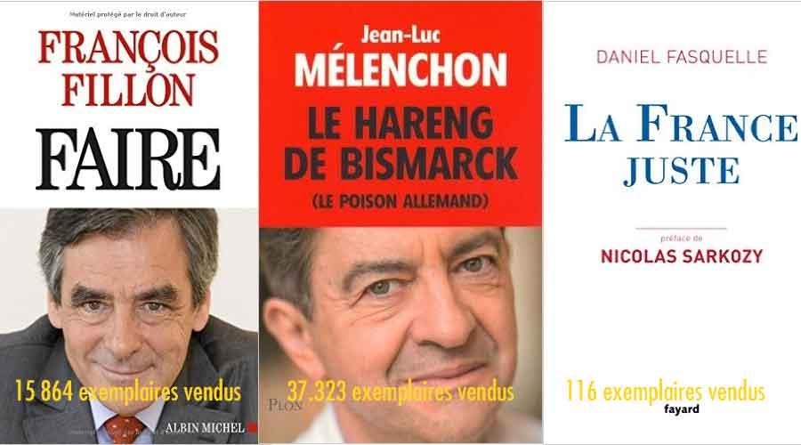 les ventes des livres politiques