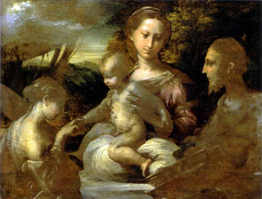 Francesco Mazzola, dit Parmigianino Le mariage mystique de Ste Catherine © RMN-Grand Palais(musée du Louvre) /René-Gabriel Ojéda