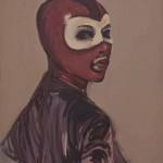 Claire Tabouret - Les masques (rouge)