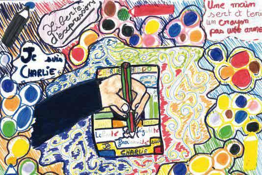 Je dessine- Dessin d'Esther, 10ans. LES ECHAPPÉS