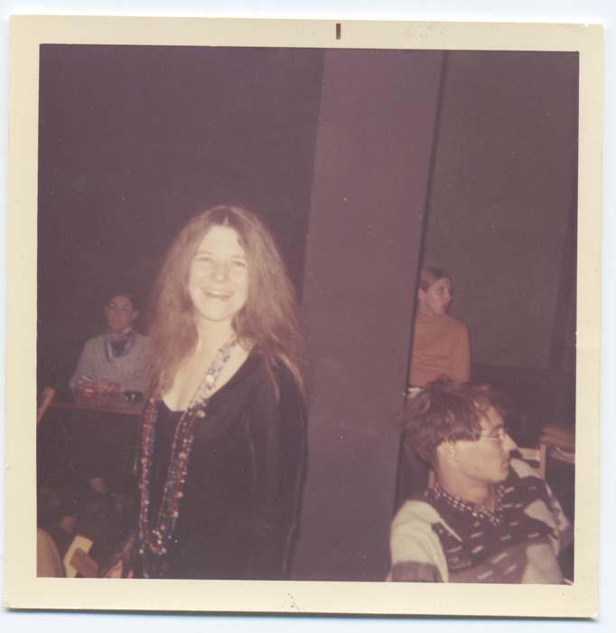 Janis Joplin backstage polaroid (c) Fantality Corp