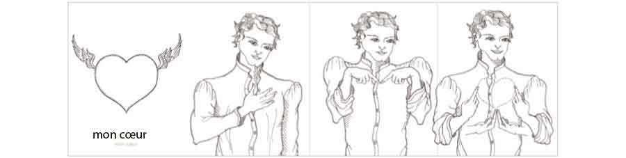 mon coeur en langue des signes