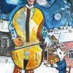 Chagall Marc - Le Violoncelliste