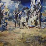 Julien SPIANTI - Midi. 2016. Huile sur toile, 195 x 160 cm