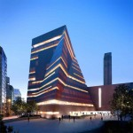 Tate Modern - View from the South at dusk © Hayes Davidson and Herzog & de Meuron