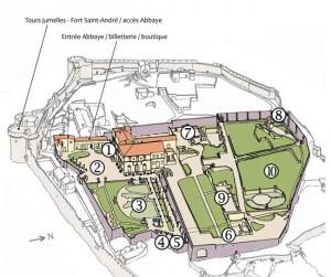l'abbaye Saint-André - plan