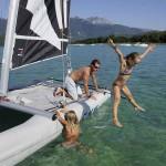 Catamaran en famille et baignade au lac d'Annecy - Sevrier