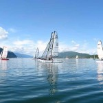 Catamarans sur le lac du Bourget