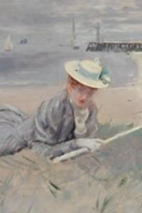 Normandie - xPaul-César Helleu, Mme Helleu sur la plage à Deauville