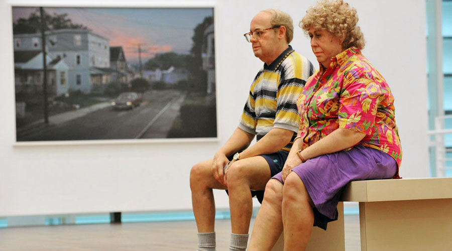 Duane Hanson Old Couple sur un banc
