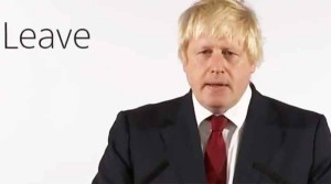 No - Boris Johnson
