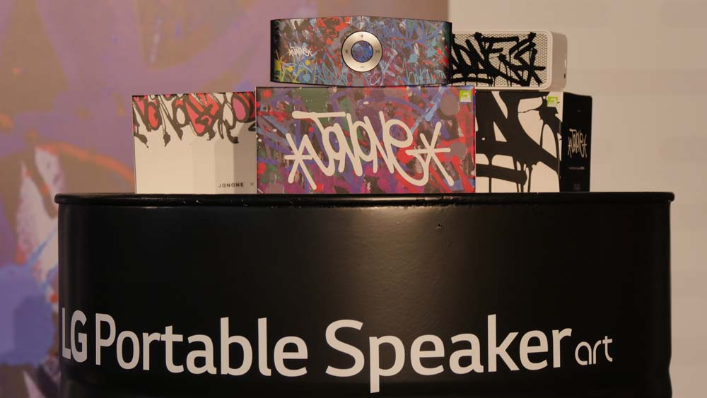 les LG Portable Speaker Art