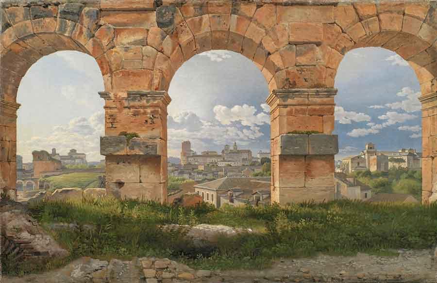 Eckersberg - Vue à travers trois arches du Colisée à Rome, 1815 Huile sur toile, 32 x 49,5 cm © Statens Museum for Kunst, Copenhague