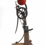 La Cloche (Catalogue Raisonné n°429) - 1967 Socle en acier, fer, barres d'acier, roue, cloche d'alarme, moteur électrique 230 x 90 x 90 cm Courtesy NCAF et Galerie GP & N Vallois, Paris - Photos : André Morin