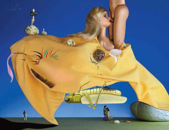 La flûte enchantée clin d'oeil à Salvador Dali 115 cm x 91 cm - tirage FineArt sous plexi 4mm, collage sur Alu dibond 7