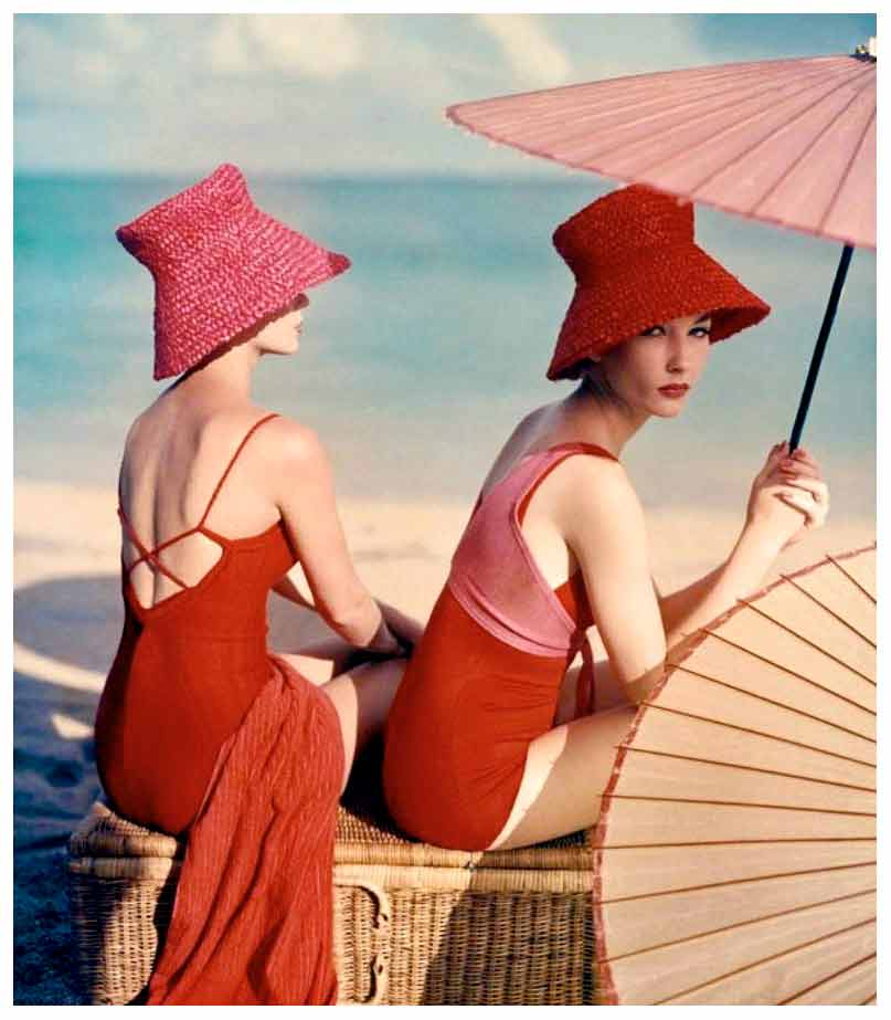 Louise Dahl-Wolfe, Under Parasols, 1959