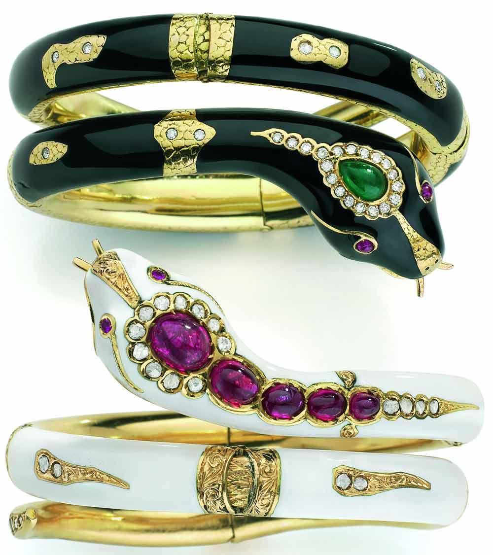 Bracelet Serpents noir et blanc