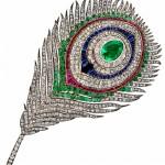 broche plume de paon qui a appartenu à l'Impératrice Eugénie en 1868