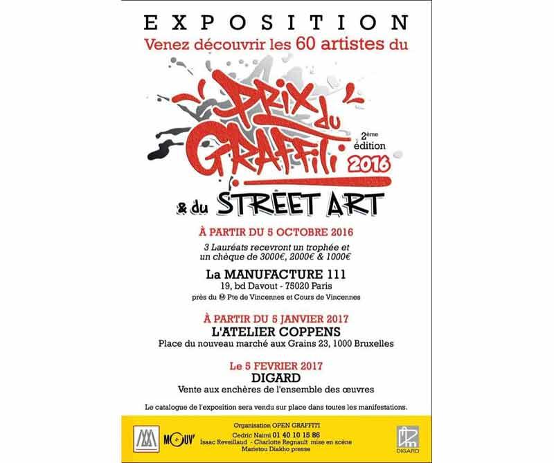 Graffiti - Prix du Graffiti & du Street-Art 2016