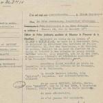 Rapport de police sur Léonie Bathiat, dite Arletty, Paris, 3 octobre 1945. Arch. nat., Z/6SN/105, dossier 40863