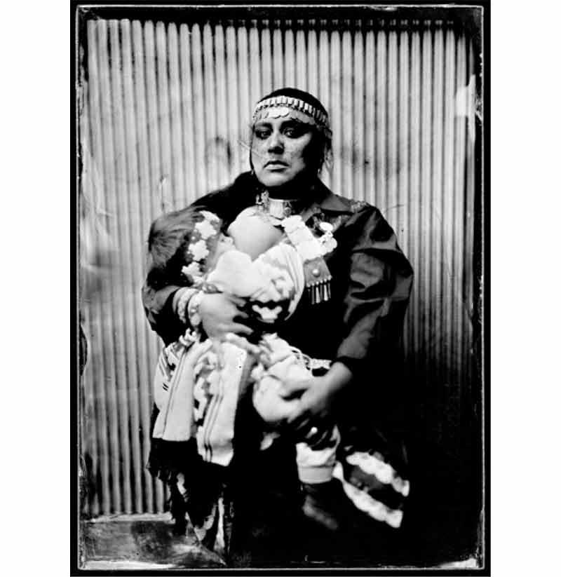 Mapuche - Ana Millaleo Collodion humide sur plaque de verre © Ritual Inhabitual