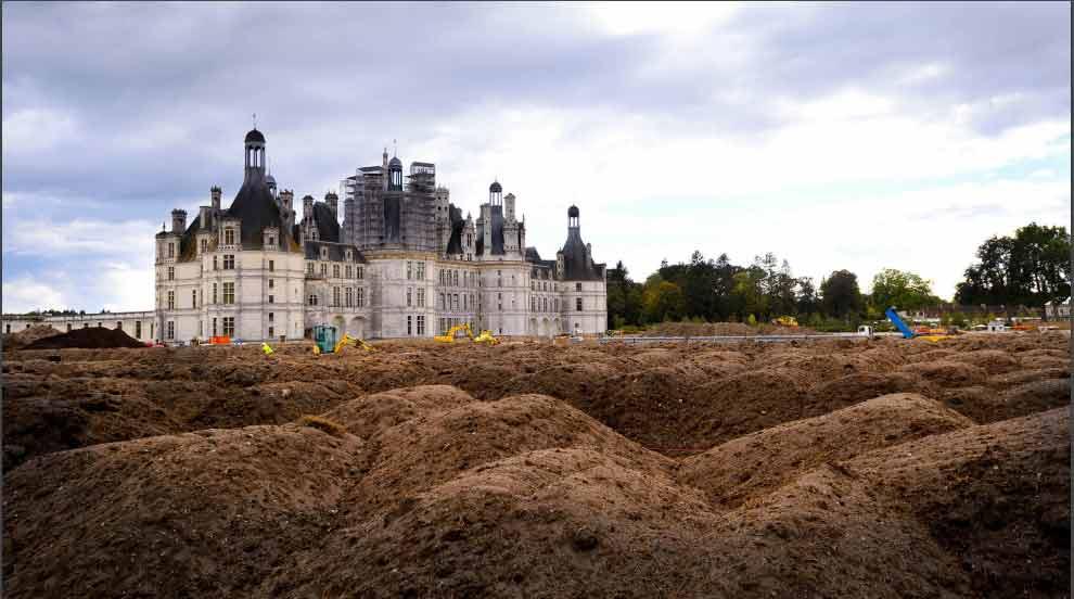 chambord - jardin à la française