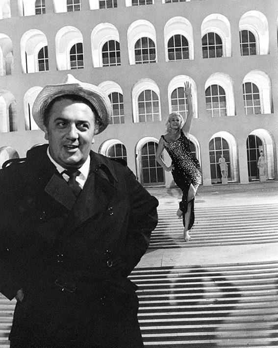 Federico Fellini & Anita Ekberg Cinecitta' - Rome, 1962