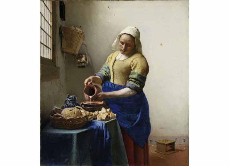 Johannes Vermeer, La Laitière, vers 1657-1658. Huile sur toile. 45,5 x 41 cm. Amsterdam, Rijksmuseum © Amsterdam, The Rijksmuseum