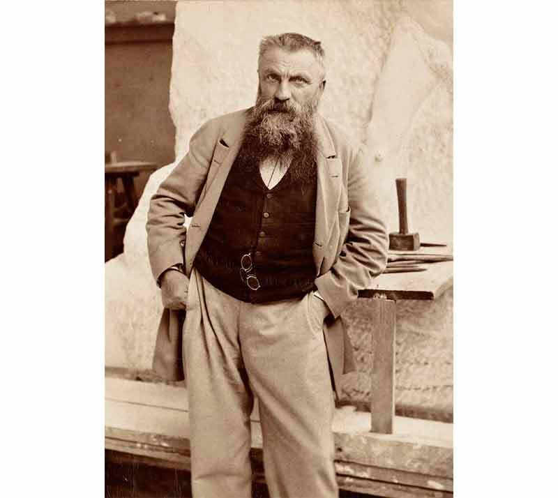 Rodin dans atelier