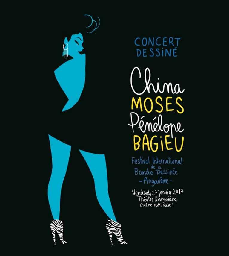 Concert dessiné avec China Moses et Pénélope Bagieu