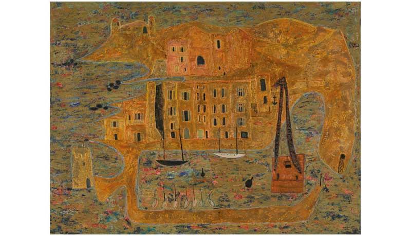 René Guiette - Saint-Tropez, 1949, Huile sur toile, 99,5 x 132 cm Cat Rais. 427 (ARC F 186). © René Guiette, ADAGP, Paris, 2017.