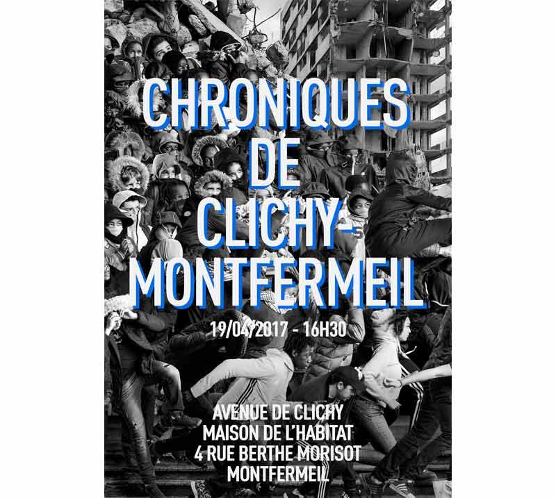 JR installe sa fresque monumentale Avenue de Clichy à Montfermeil
