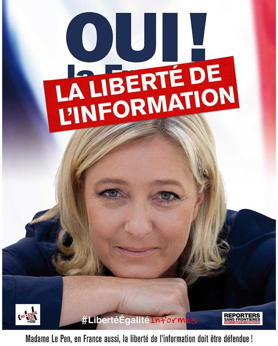 Affiche Le Pen