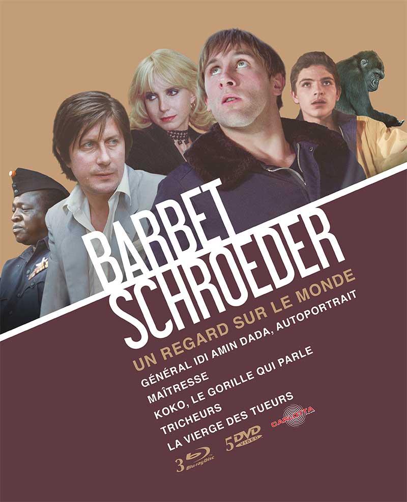 Barbet Schroeder - Coffret : La vierge des tueurs + Général Idi Amin Dada, autoportrait + Koko, le gorille qui parle + Maîtresse + Tricheurs [3 Blu-ray + 5 DVD]
