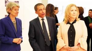 MadameIrina Bokova, Directrice Générale de l'UNESCO - Monsiuer Ghazi Gheraïri, Ambassadeur, délégué permanent de la Tunisie auprès de l'UNESCO - MadameSelma Elloumi-Rekik, Ministre du Tourisme et de l'Artisanat