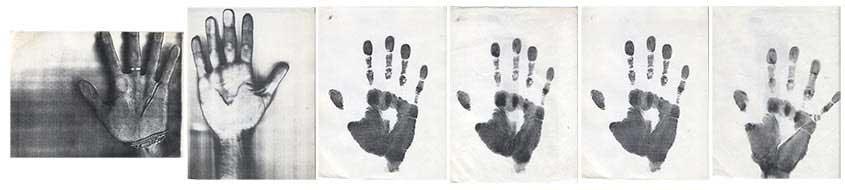 Hudinilson Jr., Sem título / Sans titre, 80s xerografia sobre papel / xérographie sur papier 29 x 22 cm chaque (6 pièces) Courtesy Galerie Jaqueline Martins (São Paolo)