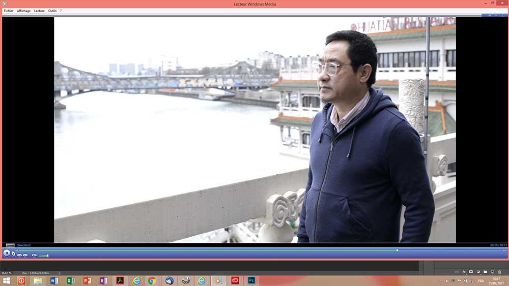 Jiang Shanqing dans son atelier